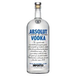 Vodka Absolut Blue 1gl 4.5lts c/est 1gl, 4.5lts, c/est